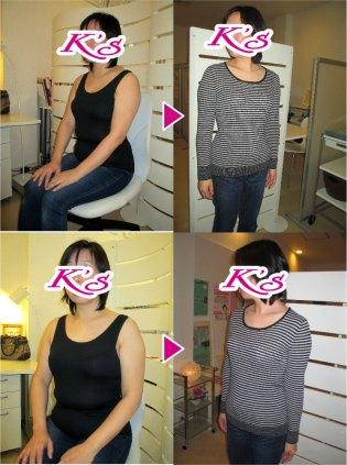体重69.1kg→58.3kg 体脂肪35.1%→25.8% 内臓脂肪Lv7→Lv4