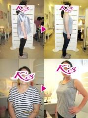 体重66.0kg→50.4kg 体脂肪40.2%→28.3% 内臓脂肪Lv7→Lv4