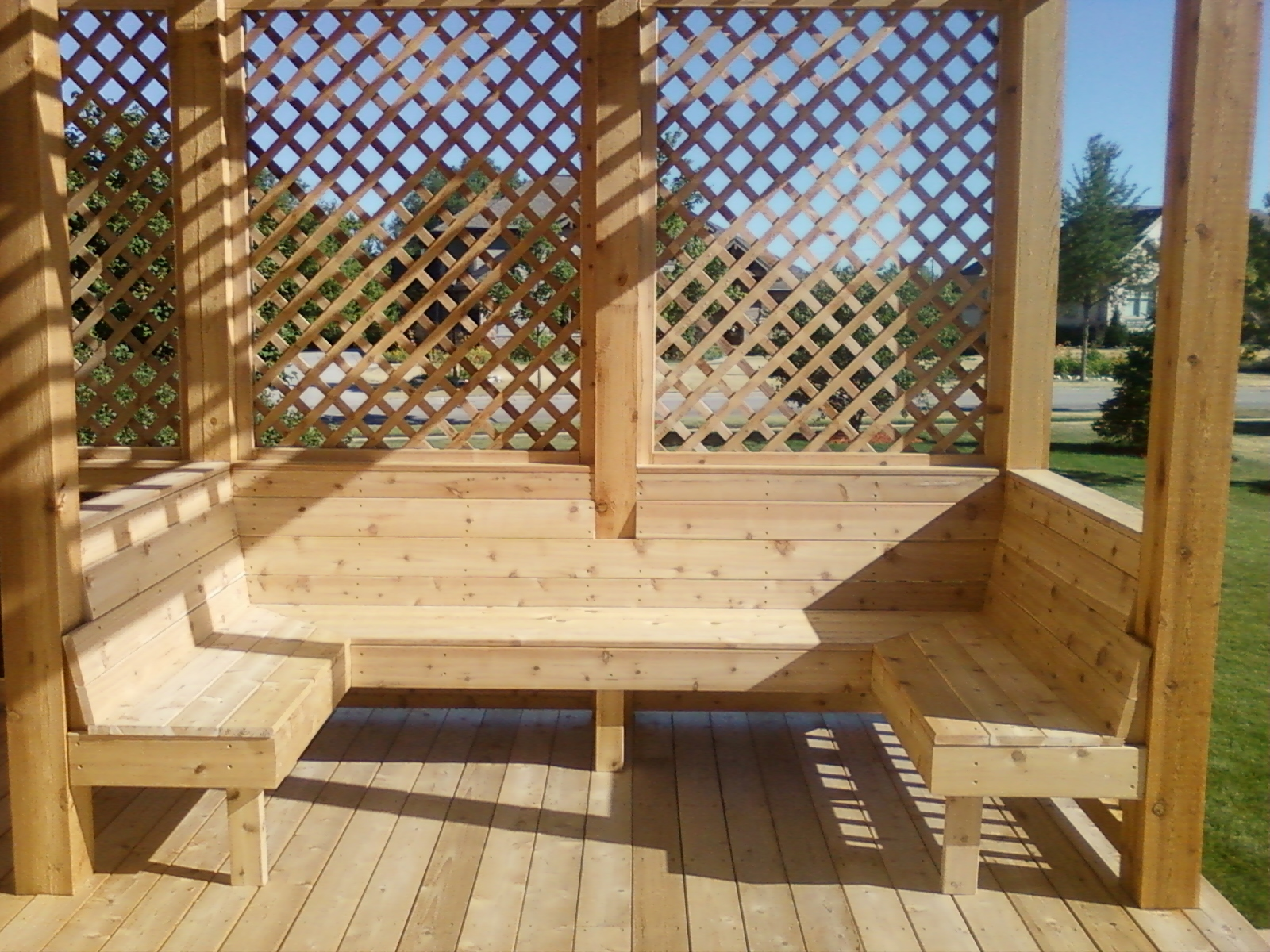 built in patio furniture - terrasseenbois, Gartengerate ideen