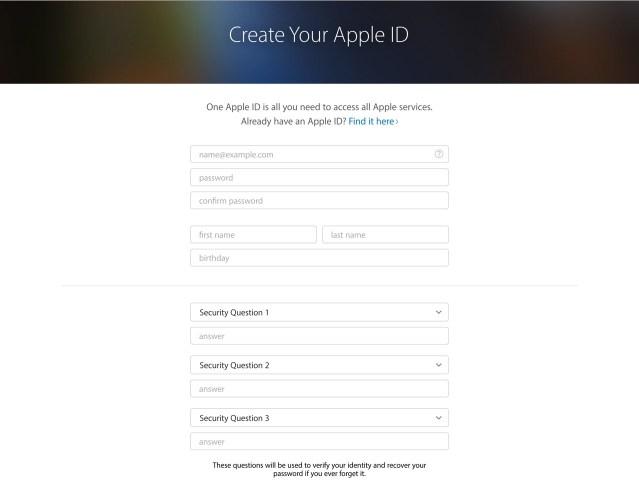 Create Your AppleID