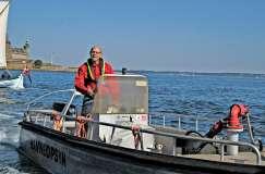Havnefoged Benny Carlsen byder velkommen til Sundtoldsmarkedet