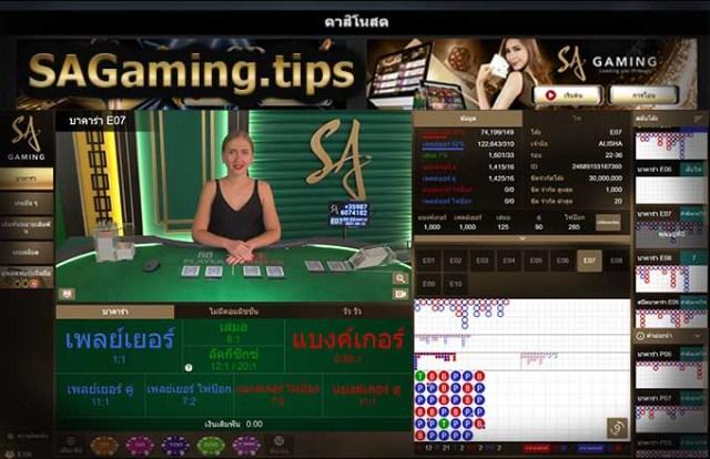 หน้าเล่น สปีดบาคาร่า SA Gaming