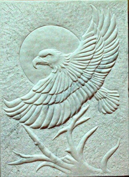 Relief Marble panel, original stone carving