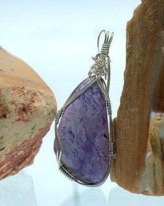 Tiffany stone, free form pendant, gemstone jewelry