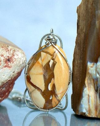 Stone for changes, yellow jasper, necklace pendant