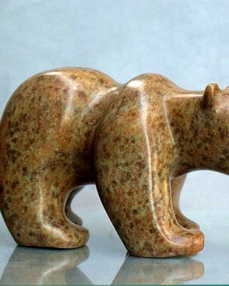 Hand carved bear figurine