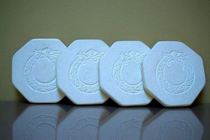 Hand carved symbol,octagon,limestone coasters