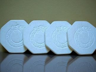 Hand carved symbol,octagon,limestone coasters