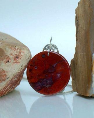 red Jasper pendant, necklace