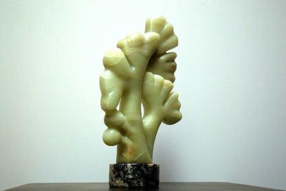 Gingko sculpture, green soapstone,modern art