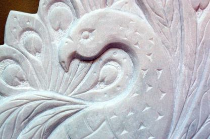 Traditional art, hand chiseled, Marble plaque