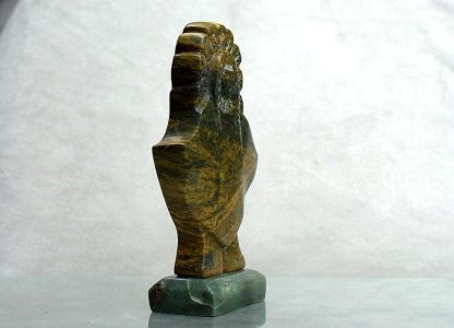 Indian girl carving,green,soapstone sculpture