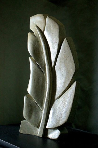 Sandstone sculpture, large size feather carving