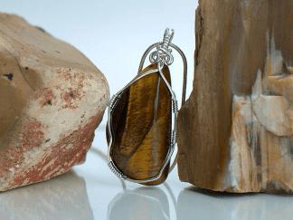 Gold tiger eye gemstone