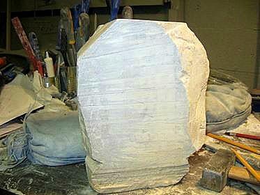 cut to shape raw stone