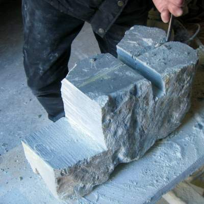 shaping with mallet and chisel
