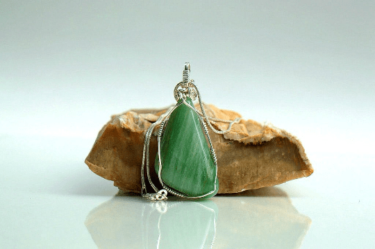 green gemstone pendant