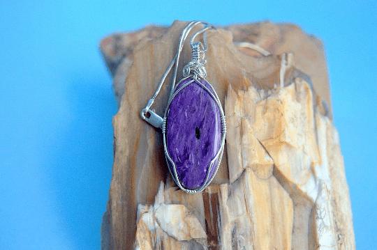 Purple oval shape gemstone