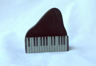 Piano card holder