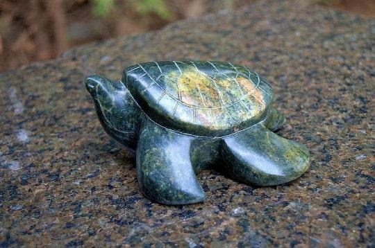 soapstone turtle figurine