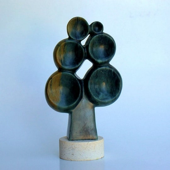 Tree of life soapstone sculpture