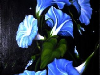 Morning glory flower painting