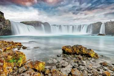Waterfall Goðafoss via Lake Myvatn Tour from Akureyri