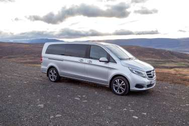 Vigdís is a 9 passenger Mercedes Benz V-Class.