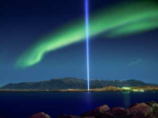 Imagine Peace and Northern Lights