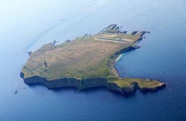 Grimsey Island norht of Iceland and beyond the arctic circle