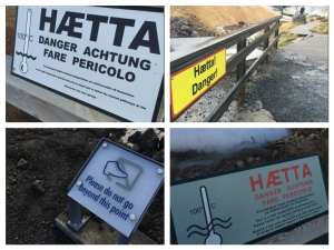 There's a reason for all these warning signs around the peninsula. Respect them please!
