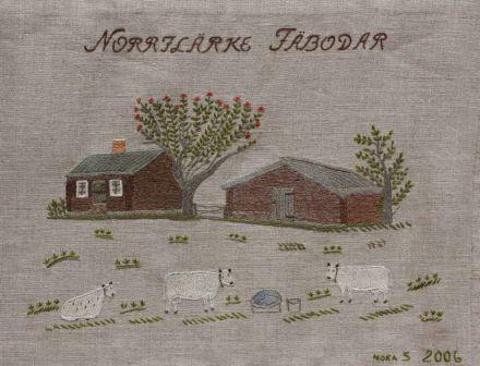 """Norrflärke fäbodar Norrflärke fäbodar, som anlades omkring år 1750, ligger cirka tre kilometer söder om Pengsjö by efter väg 348 mot Åsele, längs Sagavägen. Under den tid som fäbodlivet levdes i full utsträckning var det i Norrflärke rätt livligt; 7-8 fäbodjäntor och lika många småpojkar som getare. """"Buffrandet"""", färden till fäboden bestod i att både kreatur och människor gick till fots den cirka tre mil långa vägen. Fäbodjäntornas arbete bestod i att mjölka korna, ta vara på mjölken, separera (skilja grädde och skummjölk åt), kärna smör, göra ost och koka mesost. Getarna skulle följa korna ut i skogen för att söka föda och se till att inget djur gick vilse. År 1950 var sista året denna verksamhet pågick i """"Klocken"""". De sista fäbodjäntorna var Anna jonsson, 1890 - 1976 och Kristina Svensson, 1890 - 1963. Båda var ogifta och från Norrflärke. I dag finns vissa hus kvar och de används vid älgjakt och bärplockning."""