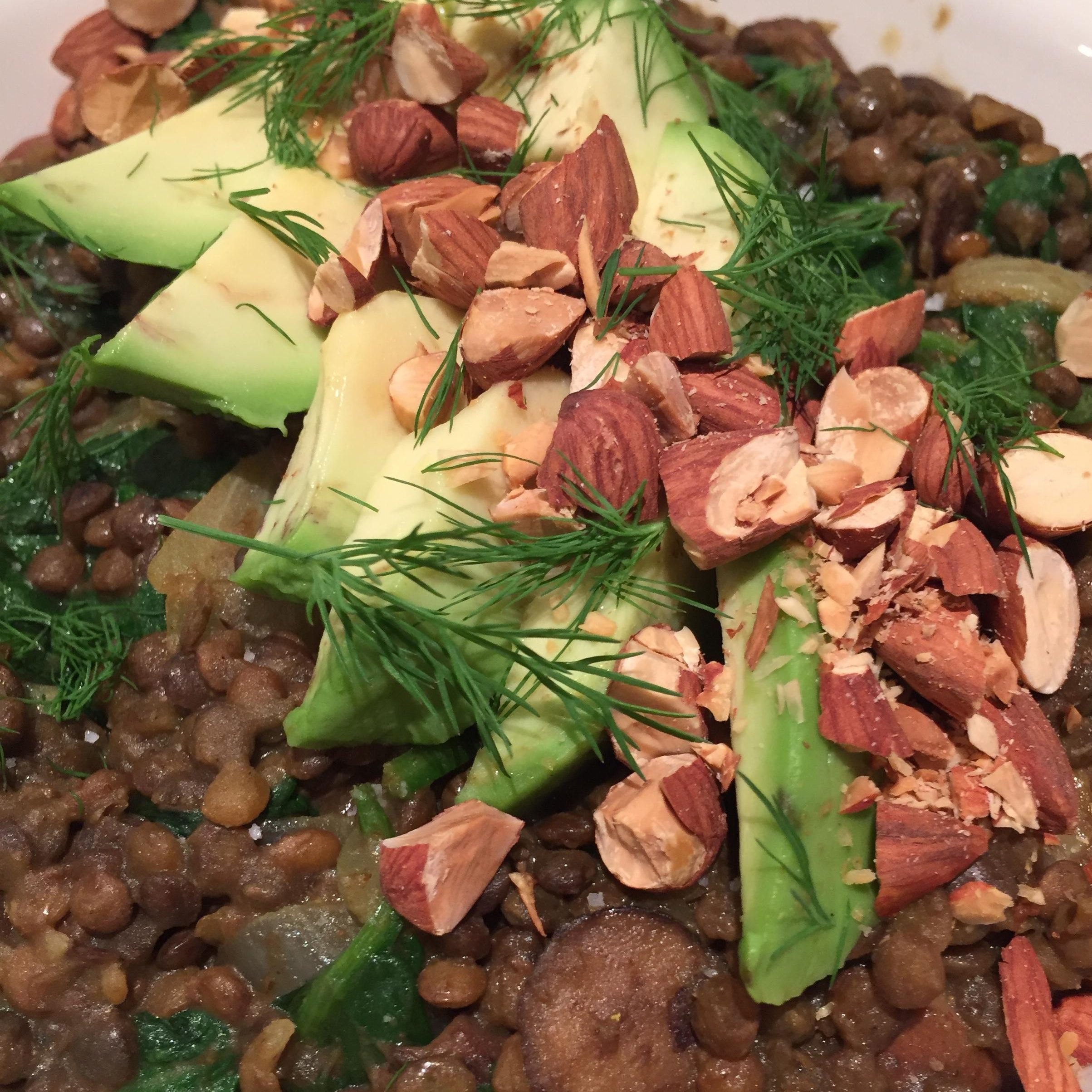 Curried Lentils with Mushrooms