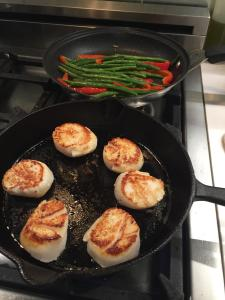 Searing Sea Scallops in a Skillet