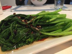 Yu Choy with Garlic Sauce