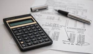 calculator and accounts workings