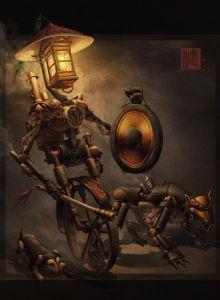 Night Patrol Chinese Steampunk by James Ng