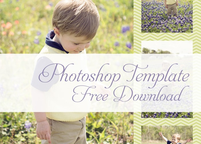 4 Photo Collage Photoshop Template
