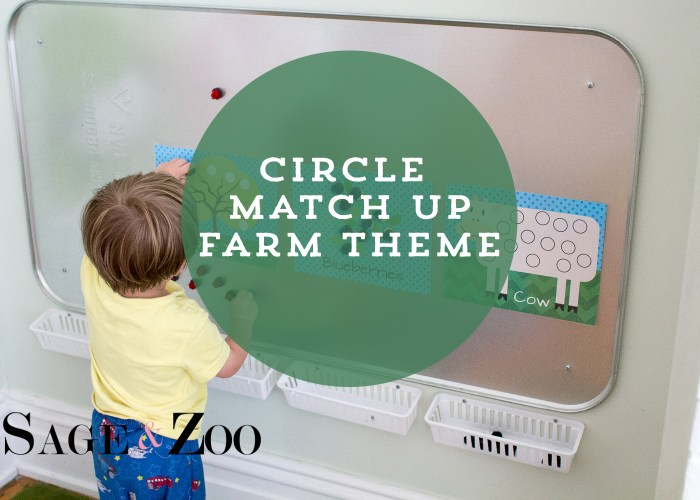Match Circles to Pictures- Farm Theme