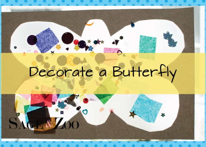 Decorate a Butterfly