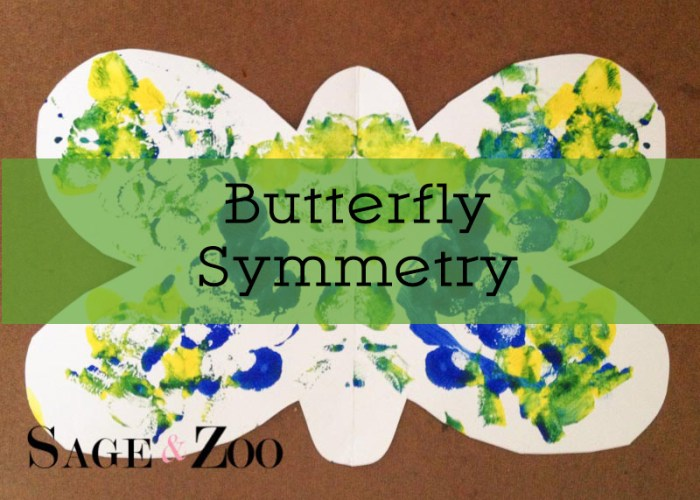 Butterfly Symmetry- Toddler Art Project