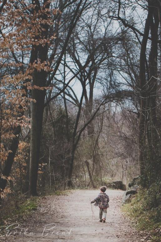 A boy on a walk