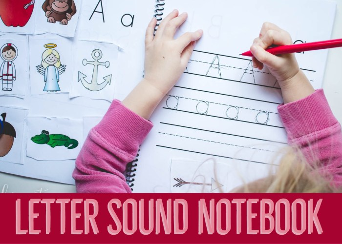 Letter Sound Notebook
