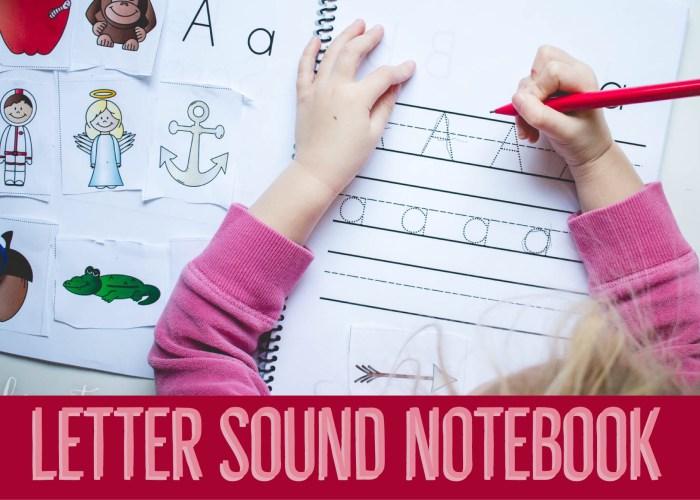 Letter Sound Notebook