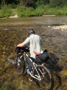 Adam Fording the Payette on the way to Moon dipper HS