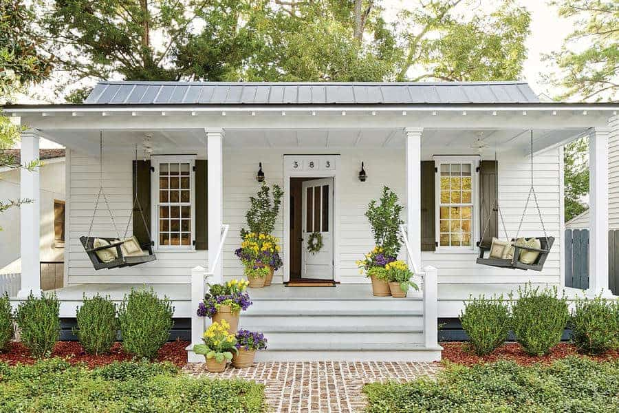 what is a granny flat white house with porch
