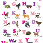 Sage Design Group - KinderReady Animal Alphabet Poster - Girl