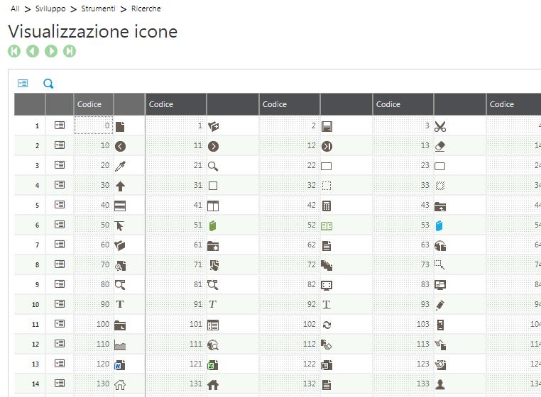 Sage V9 icons selection window