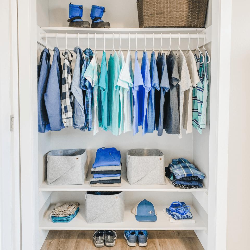 kids minimalist closet
