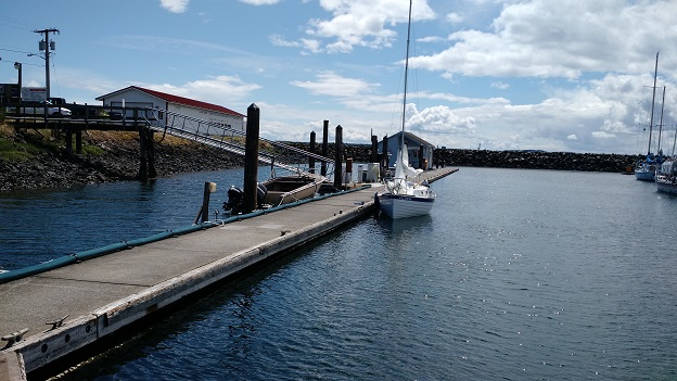 At the Port Townsend Boat Haven courtesy dock.